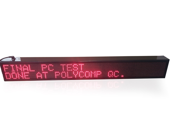 Polycomp | LED Text displays page